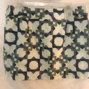 Old Navy New With Tags geometric pattern skirt